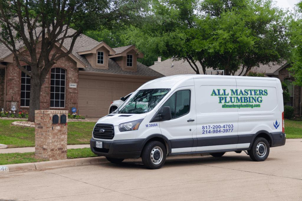 All Masters Plumbing of Arlington Texas service van image
