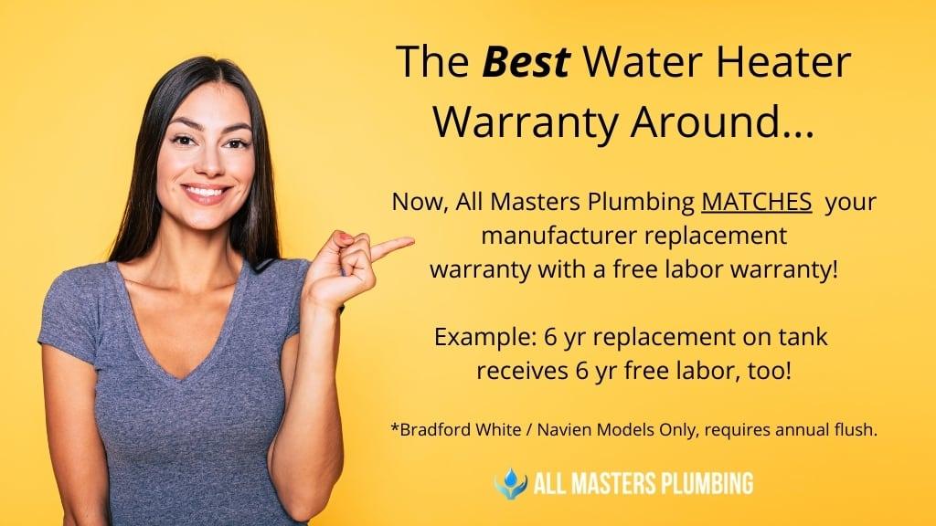 The Best Water Heater Warranty -All Masters Plumbing (Arlington)