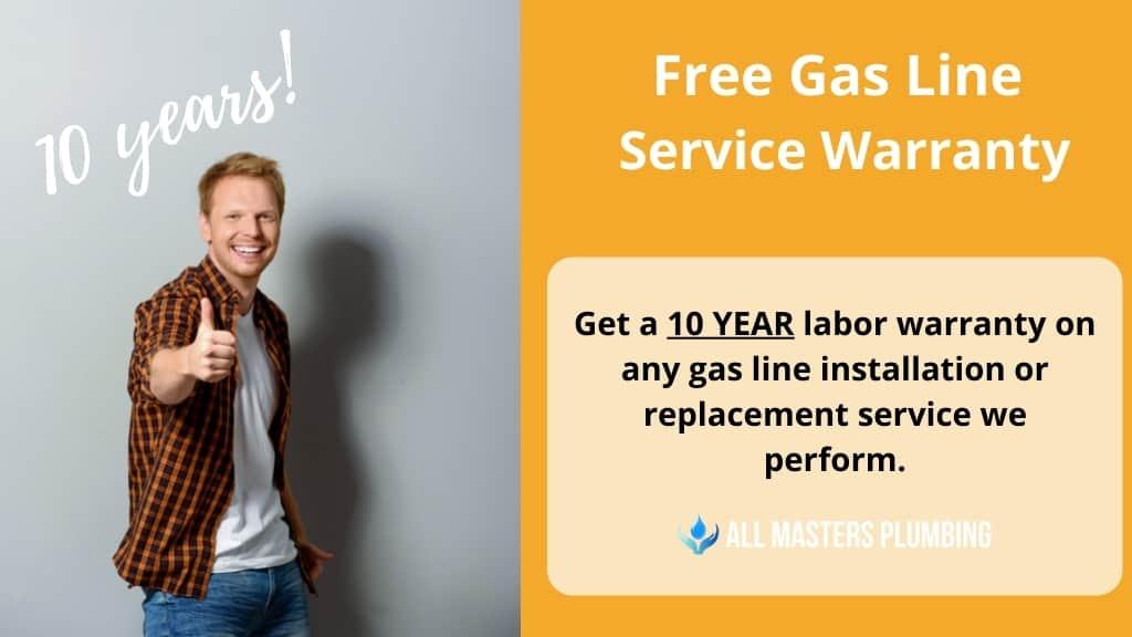 gas leak replacement service warranty arlington tx